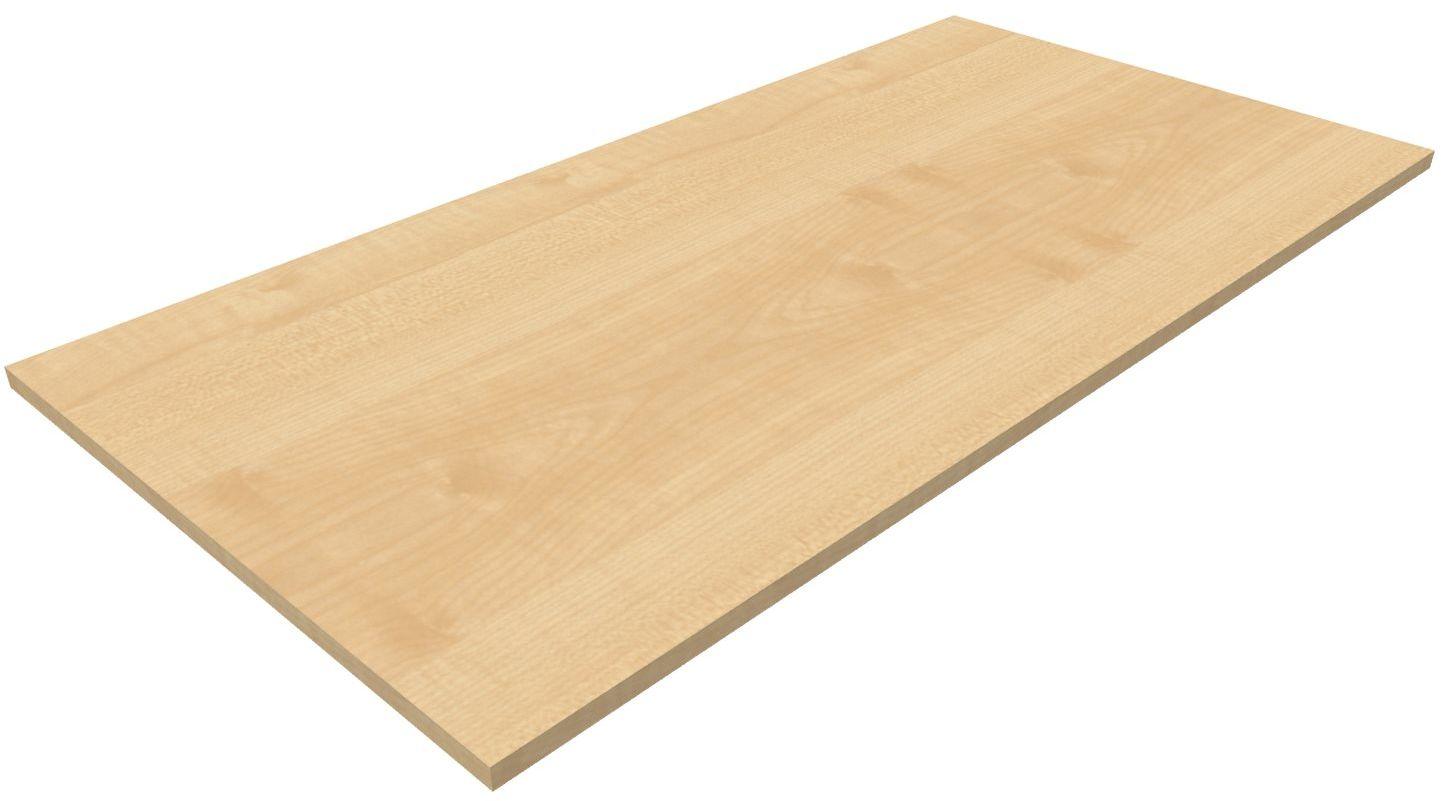 b rom bel preiswert und schnell hammerbacher k tischplatte rechteckig ahorn 160x80cm. Black Bedroom Furniture Sets. Home Design Ideas