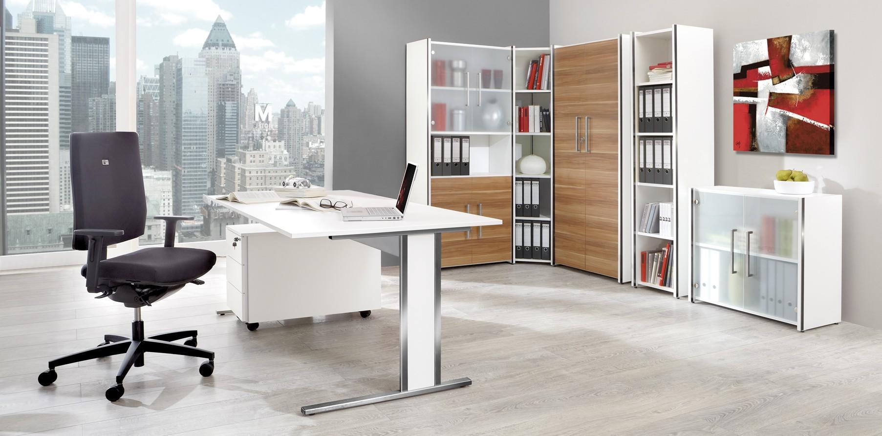 Büromöbel preiswert und schnell - Vorbautüren (Set) 2 OH Glas