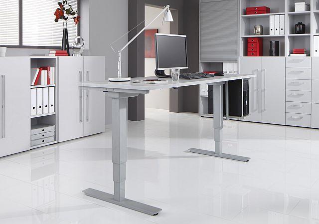 Büromöbel preiswert und schnell - Hammerbacher Lifttisch- Serie XF
