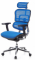 Mobile Preview: Bueroland BORDEAUX Chefsessel Netzstoff blau
