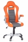 Preview: Bueroland FLORIDA Chefsessel Kunstleder orange/weiss