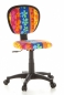 Preview: Bueroland CHILD Kinderdrehstuhl Netzstoff Mod.BASE Blumenmotiv bunt