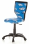 Preview: Bueroland CHILD Kinderdrehstuhl Netzstoff Mod.LUX blau Automotiv