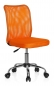 Preview: Bueroland GORDON Kinderdrehstuhl Netzstoff orange