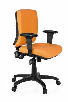 Bueroland PAMPLA Drehstuhl Stoff basic orange
