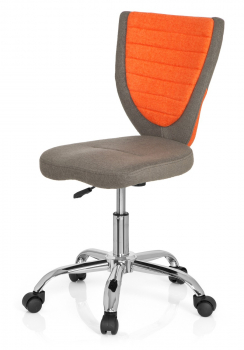 Bueroland CHILD Kinderdrehstuhl Stoff comfort grau/orange