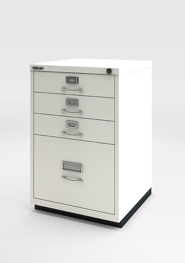 Büromöbel preiswert und schnell - Bisley F Standcontainer 1113 weiss ...