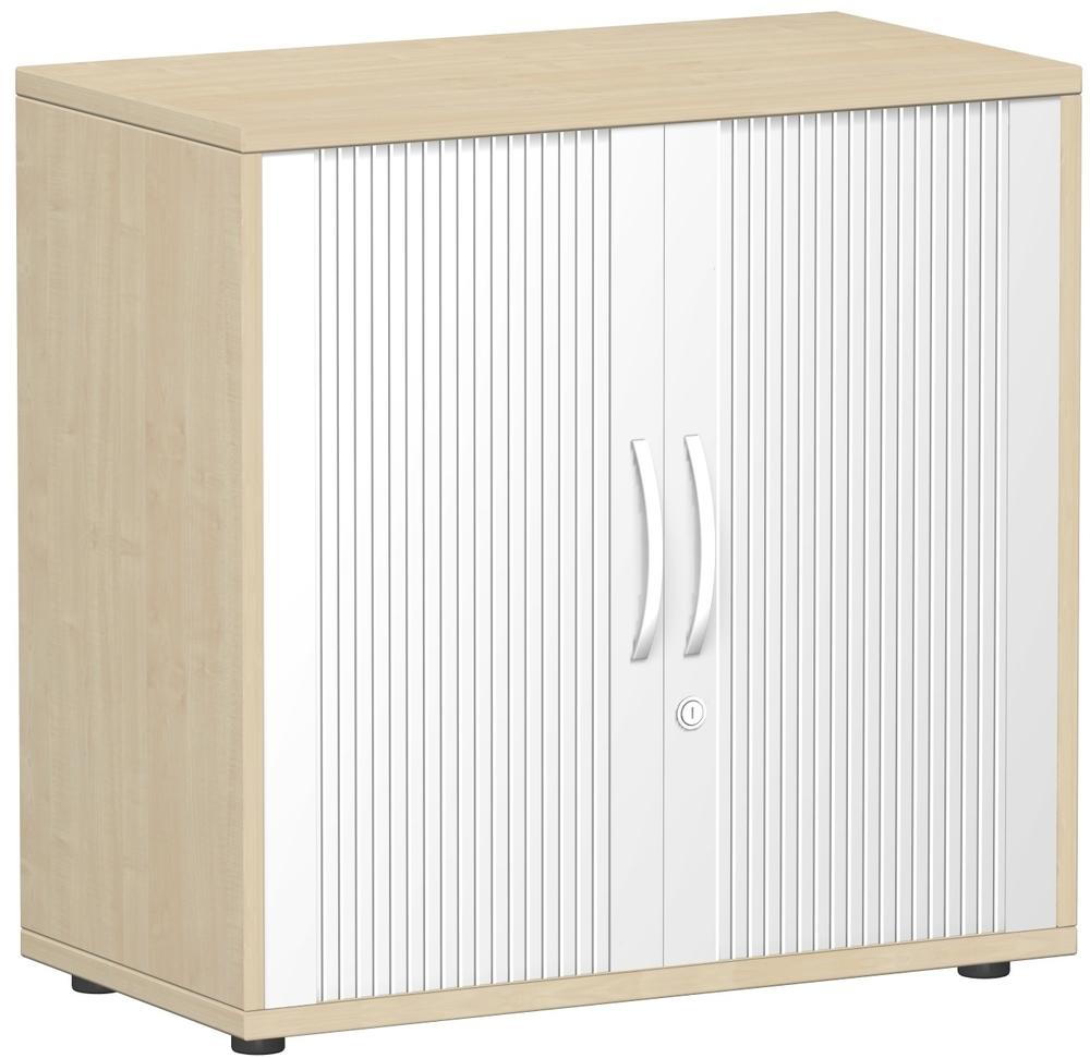 Büromöbel preiswert und schnell - Geramöbel FLEX Querrollladenschrank
