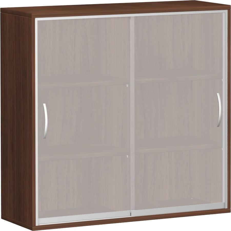 Büromöbel preiswert und schnell - Geramöbel PRO Glastürschrank mit ...