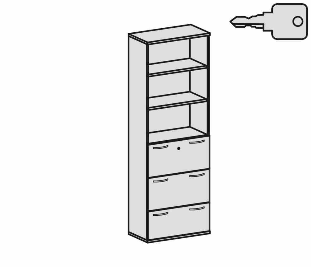 Büromöbel preiswert und schnell - Geramöbel PRO Modulschrank mit ...