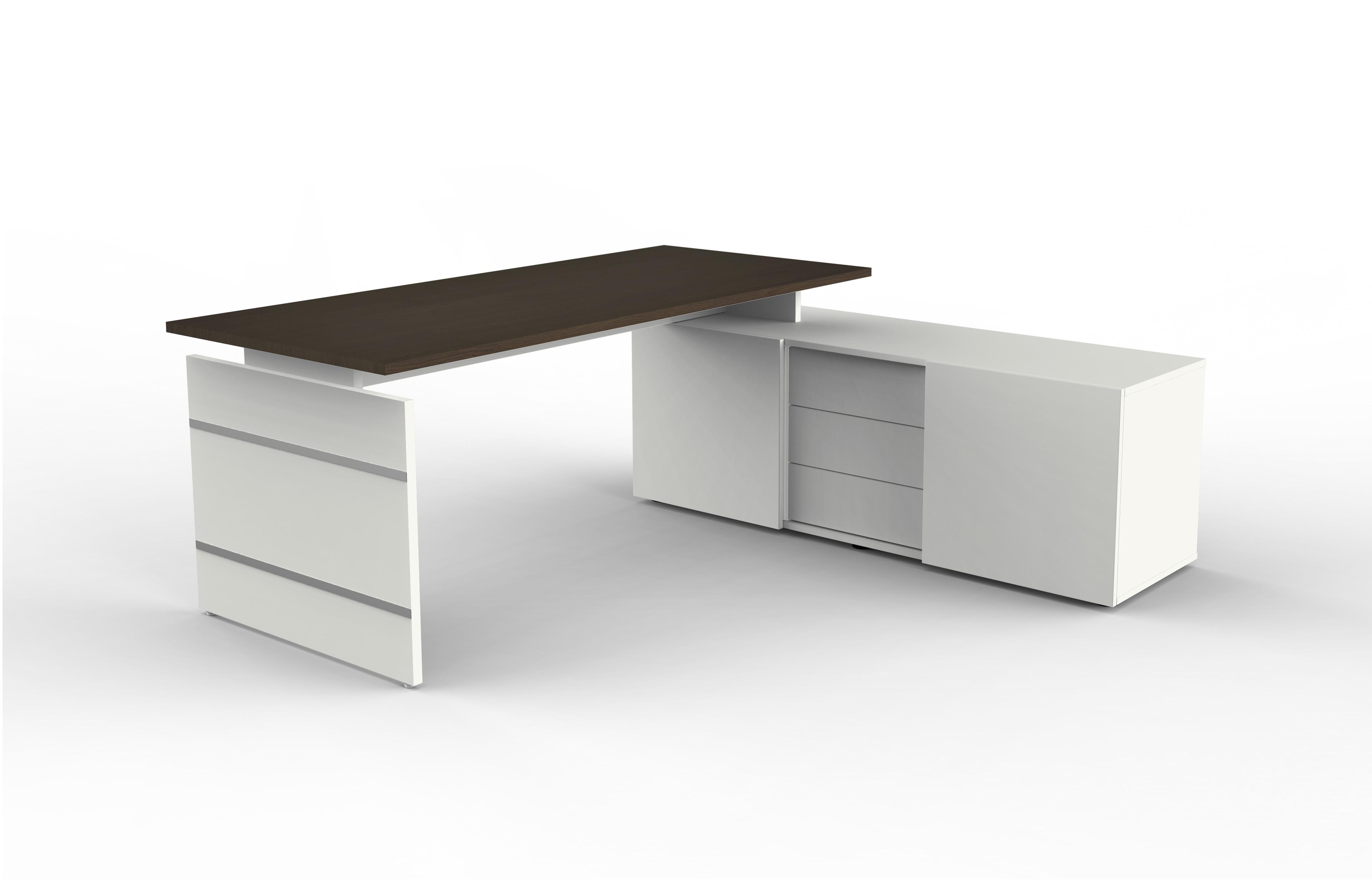 Büromöbel preiswert und schnell - Komplettarbeitsplatz mit Sideboard