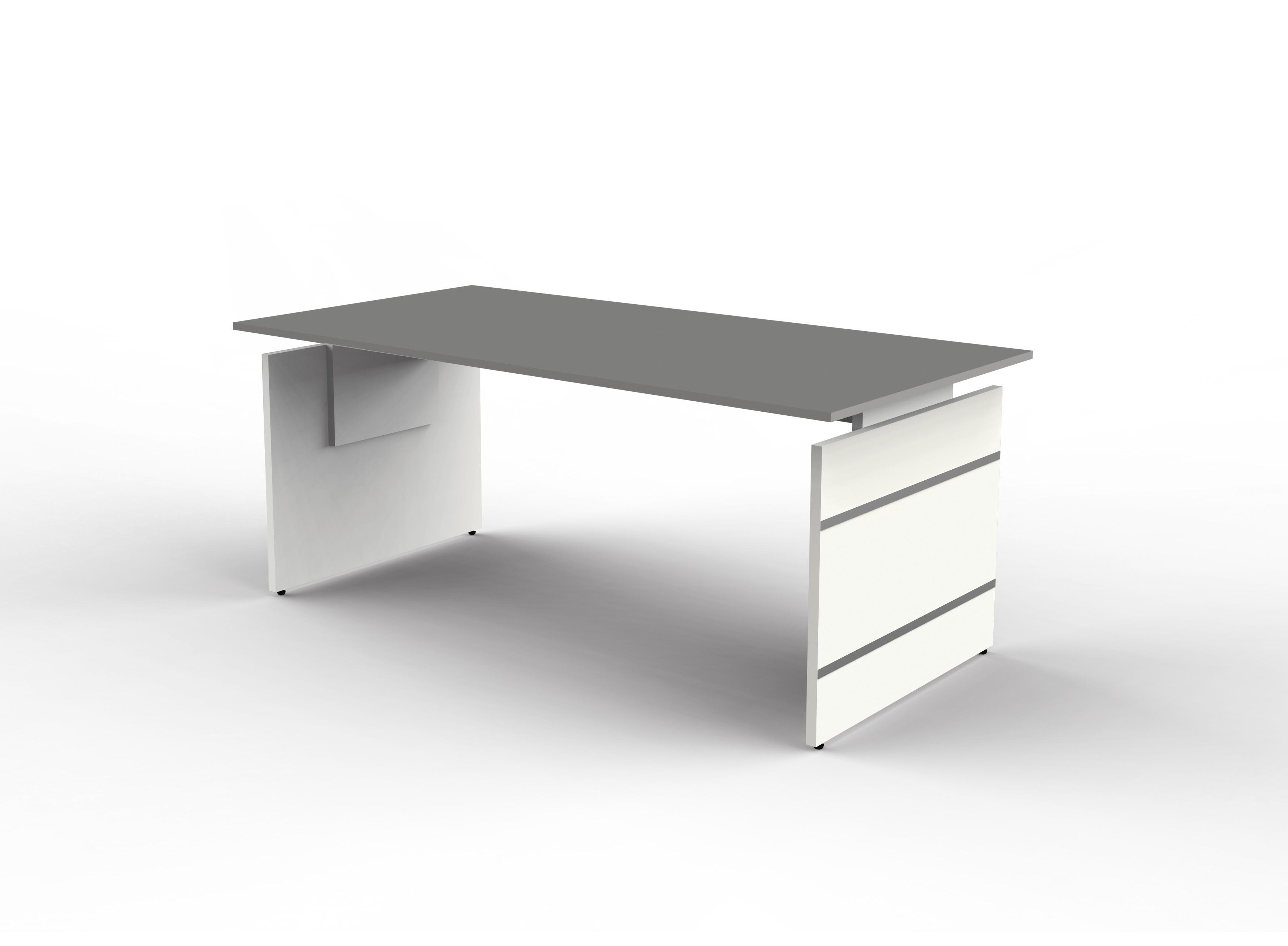 FORM 4 Schreibtisch Bürotisch Arbeitstisch höhenverstellbar 120x80cm Anthrazit