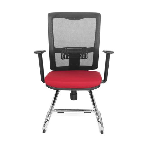 b rom bel preiswert und schnell konferenzstuhl freischwinger stuhl perl i stoff schwarz rot. Black Bedroom Furniture Sets. Home Design Ideas
