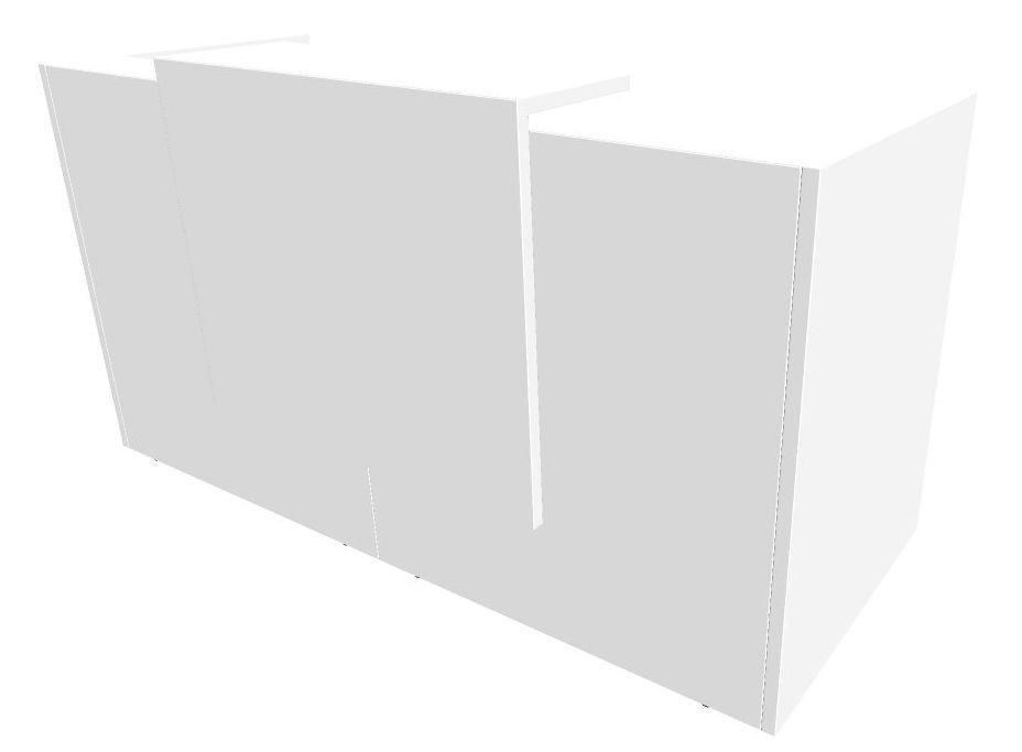 b rom bel preiswert und schnell quadrifoglio z2 empfangstheke c04 weiss weiss gestell silbern. Black Bedroom Furniture Sets. Home Design Ideas
