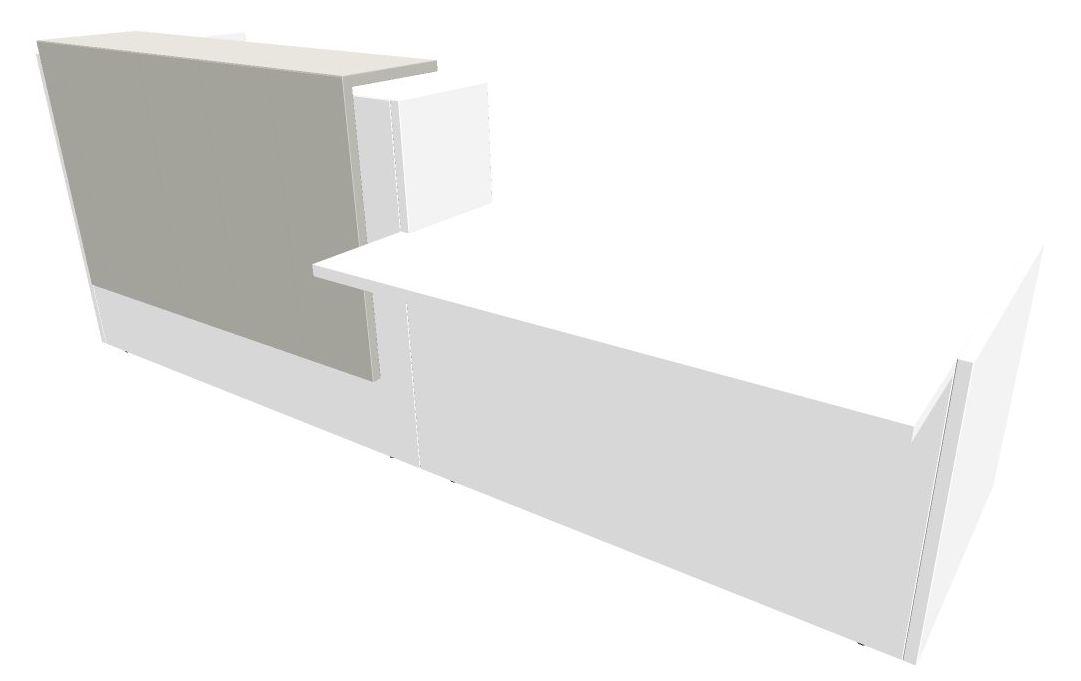 b rom bel preiswert und schnell quadrifoglio z2 empfangstheke c56 weiss grauweiss gestell weiss. Black Bedroom Furniture Sets. Home Design Ideas