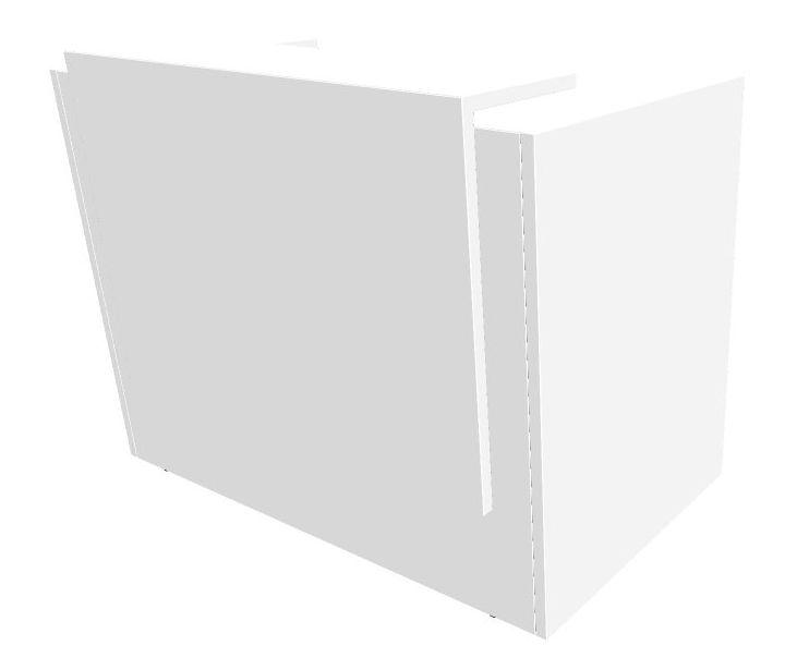 b rom bel preiswert und schnell quadrifoglio z2 empfangstheke c72 weiss weiss gestell silbern. Black Bedroom Furniture Sets. Home Design Ideas