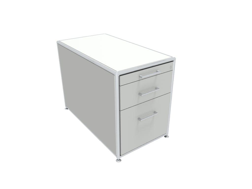 Büromöbel preiswert und schnell - Bosse FAST Rollcontainer 136 weiss