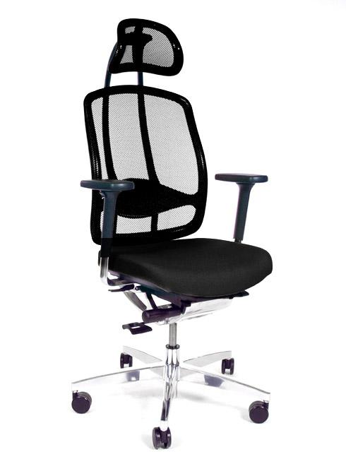 b rom bel preiswert und schnell wagner alumedic drehstuhl schwarz. Black Bedroom Furniture Sets. Home Design Ideas