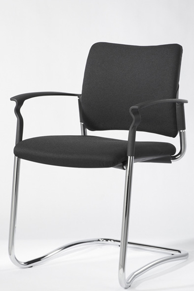 Büromöbel preiswert und schnell - Geramoebel Freischwinger Stoff ...