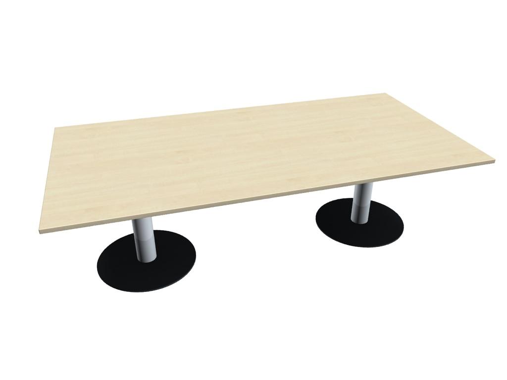 Büromöbel preiswert und schnell - Geramöbel Tellerfuß-Konferenztisch ...
