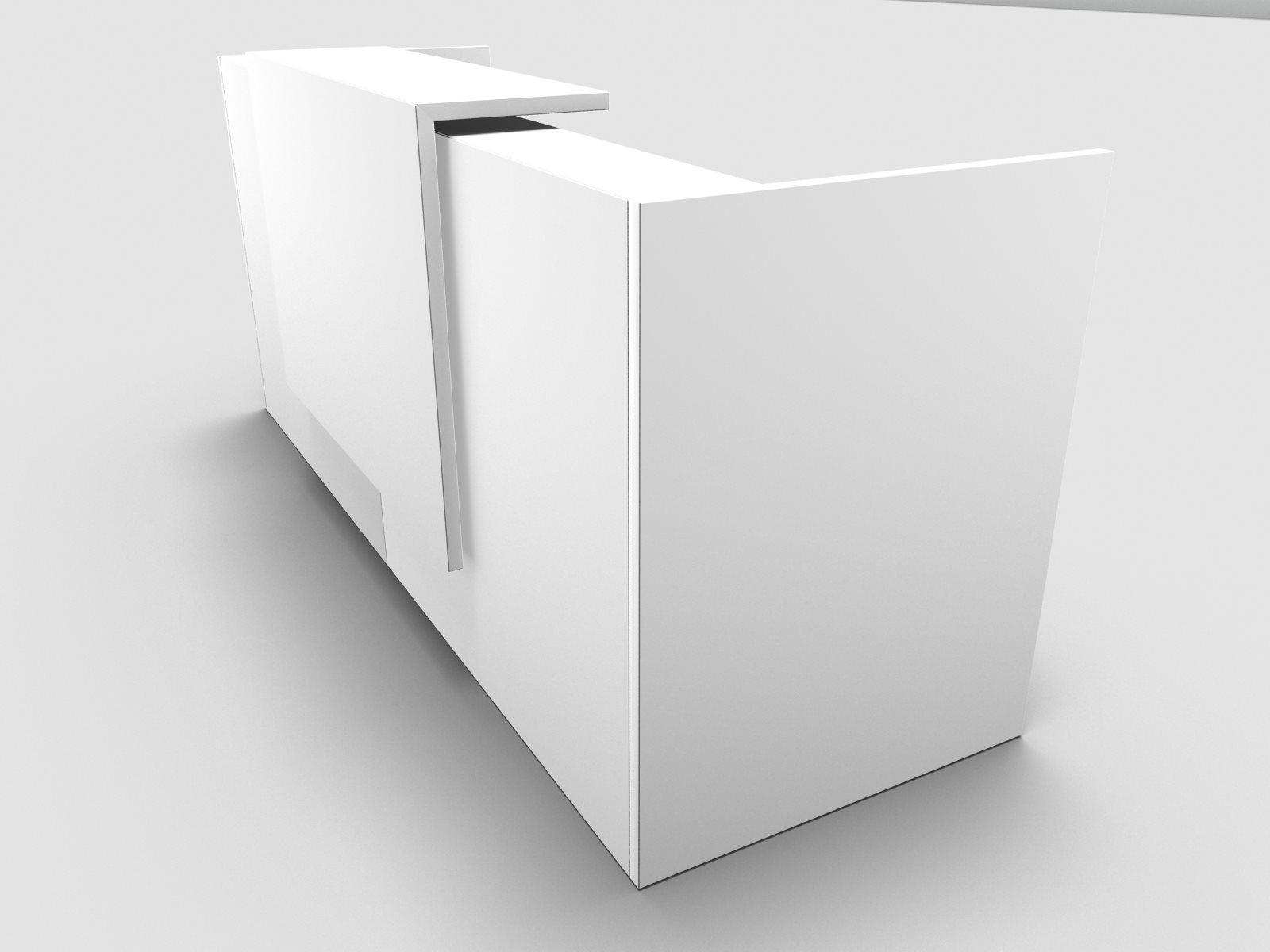 b rom bel preiswert und schnell quadrifoglio z2 empfangstheke c01 weiss 246cm blende weiss. Black Bedroom Furniture Sets. Home Design Ideas