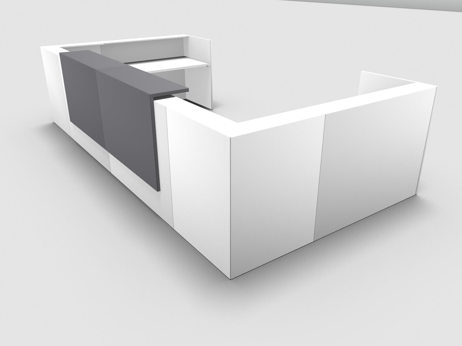 Büromöbel preiswert und schnell - Quadrifoglio Z2 Empfangstheke C30 ...