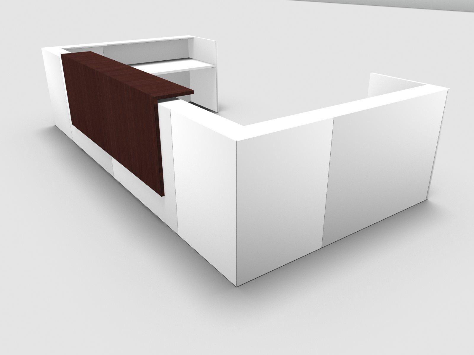 b rom bel preiswert und schnell quadrifoglio z2 empfangstheke c30 weiss 445x231cm u form. Black Bedroom Furniture Sets. Home Design Ideas