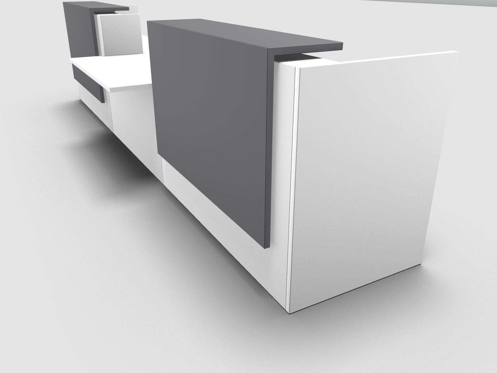 Büromöbel preiswert und schnell - Quadrifoglio Z2 Empfangstheke C41 ...