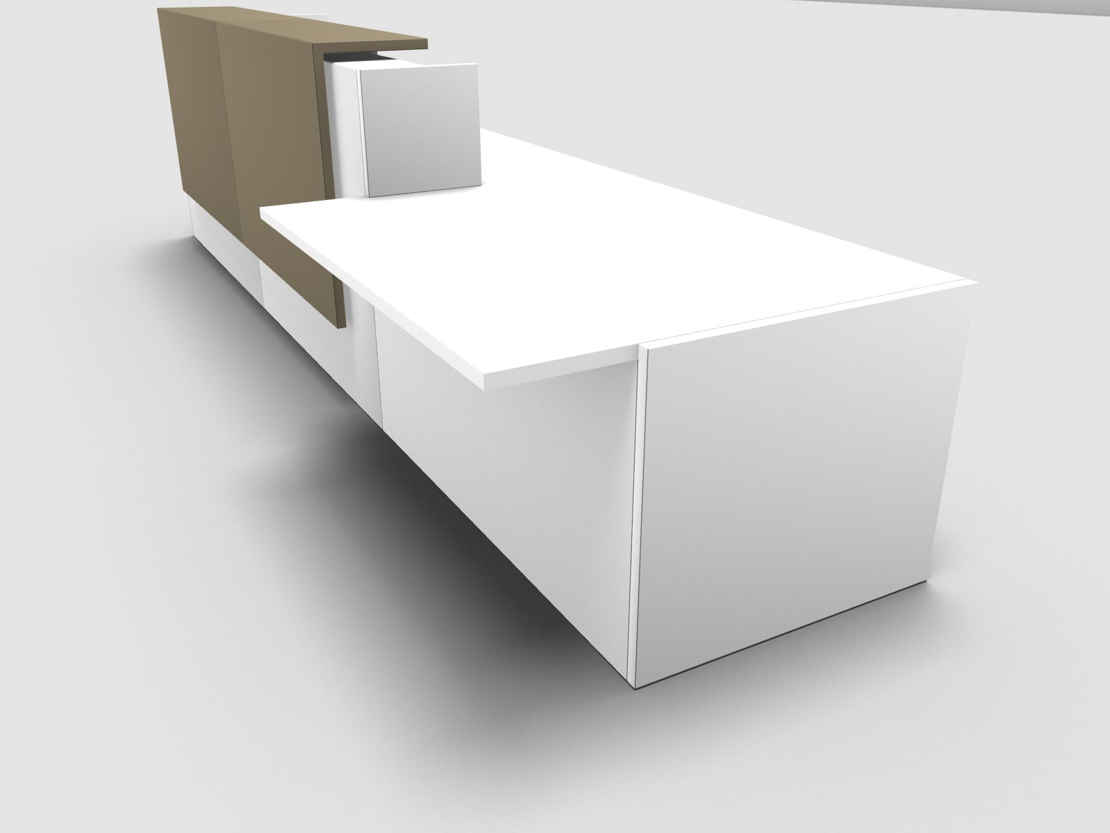 Büromöbel preiswert und schnell - Quadrifoglio Z2 Empfangstheke C45 ...