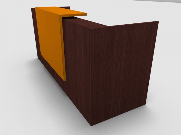 Quadrifoglio Z2 Empfangstheke C01 Wenge 246cm Blende:Lack/orange Gestell:weiss